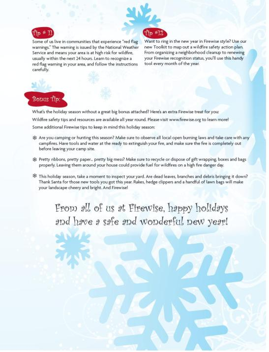 Firewise Tips for the Holidays Pt2